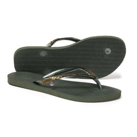 59bb3ce9517a Havaianas Slim Metal Mesh Flip-Flops (For Women) in Olive Green