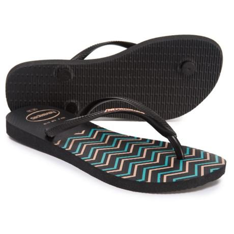 531c08a45 Havaianas Slim Zig Zag Flip-Flops (For Women) - Save 31%