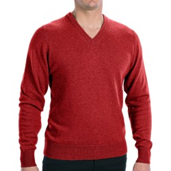 Hawick Knitwear Cashmere V-Neck Sweater (For Men) in Red