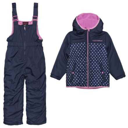 Hawke & Co 2-Piece Snowsuit - Insulated (For Toddlers and Little Girls) in Blue Polka Dot - Closeouts