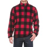 Hawke & Co Buffalo Check Fleece Jacket - Zip Neck (For Men)