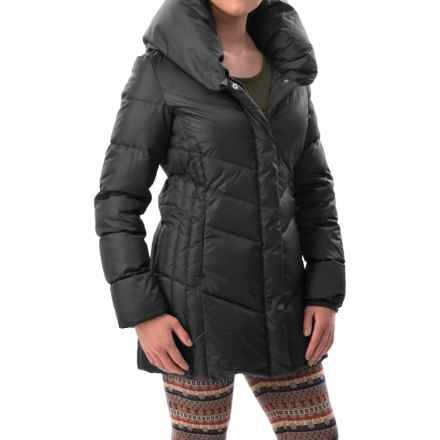 Hawke & Co Collared Quilted Down Coat (For Women) in Black - Closeouts