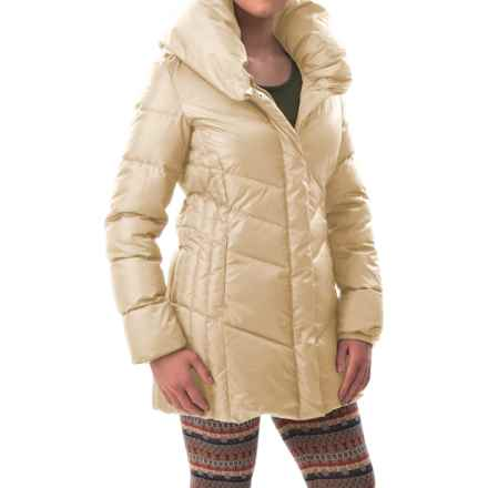 Hawke & Co Collared Quilted Down Coat (For Women) in Champagne - Closeouts