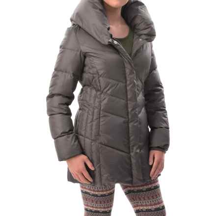 Hawke & Co Collared Quilted Down Coat (For Women) in Pewter - Closeouts