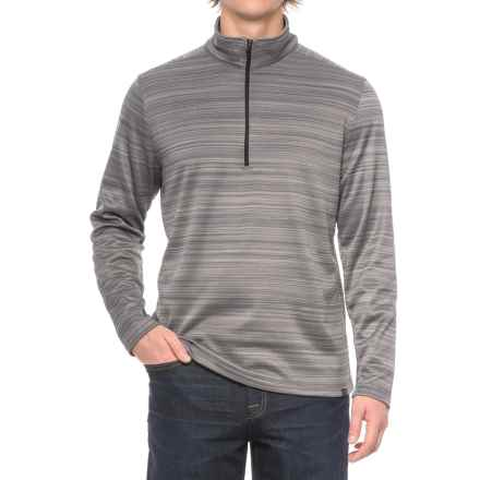 Hawke & Co Fleece-Lined Sweater - Zip Neck (For Men) in Frost - Closeouts