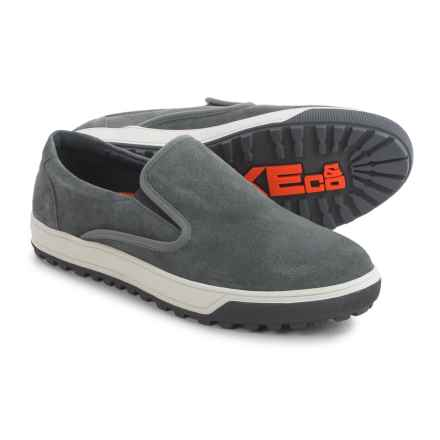 Hawke & Co Hero Sneakers - Leather, Slip-Ons (For Men) in Grey - Closeouts