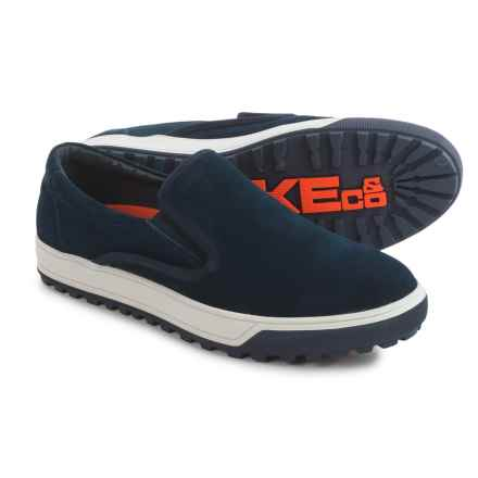 Hawke & Co Hero Sneakers - Leather, Slip-Ons (For Men) in Navy - Closeouts