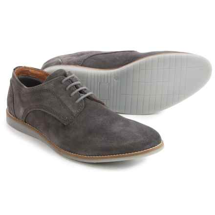 Hawke & Co Jeffrey Oxford Shoes - Suede (For Men) in Grey - Closeouts
