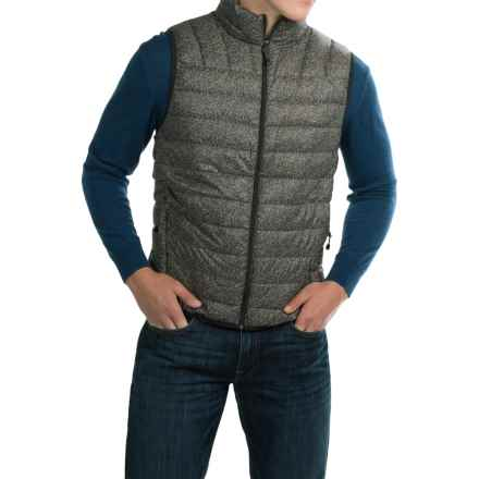 Hawke & Co Packable Down Vest - 550 Fill Power (For Men) in Black Tweed - Closeouts