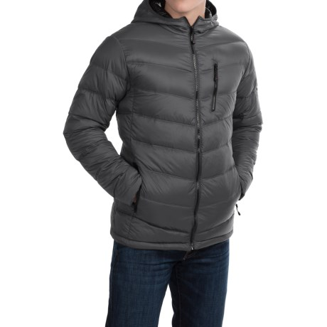 Hawke & Co Packable Hooded Down Jacket (For Men) in Graphite