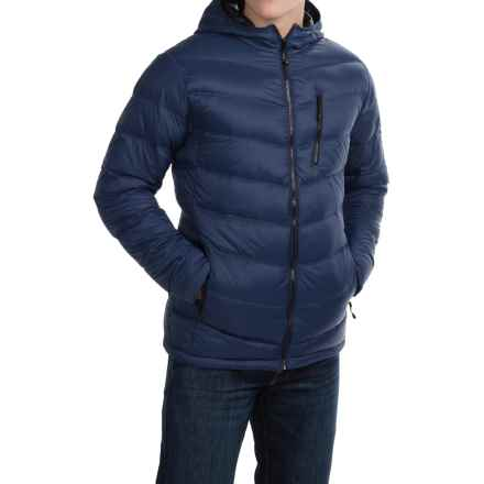 Hawke & Co Packable Hooded Down Jacket (For Men) in Medieval Blue - Closeouts