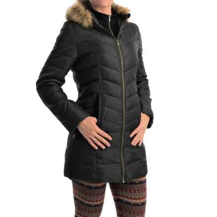 Hawke & Co Quilted Down Puffer Coat (For Women) in Black - Closeouts