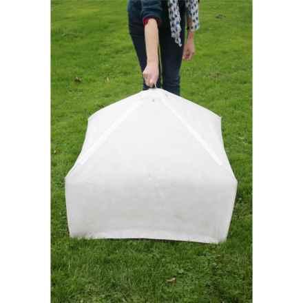 Haxnicks Easy Fleece Lantern Cloche in Opaque White - Closeouts