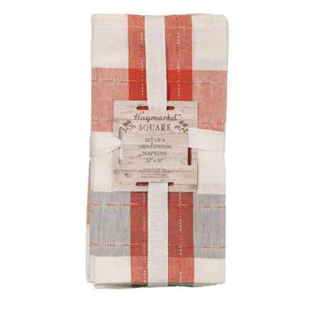 "Haymarket Square Rimini Napkins - 20x20"", Set of 6 in Grey Pumpkin/Silver Lurex - Closeouts"