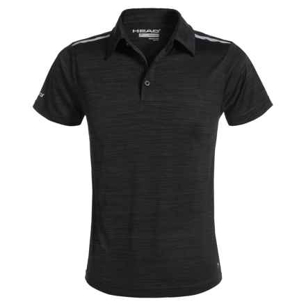 Head All In Polo Shirt - Short Sleeve (For Big Boys) in Black Heather - Closeouts