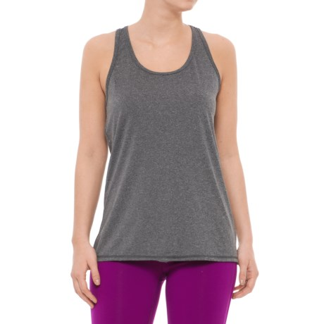Head Cassandra Split-Back Tank Top - Racerback, Slim Fit (For Women) in Black Heather