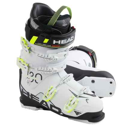 Head Challenger 130 Alpine Ski Boots (For Men) in White/Black/Yellow - Closeouts