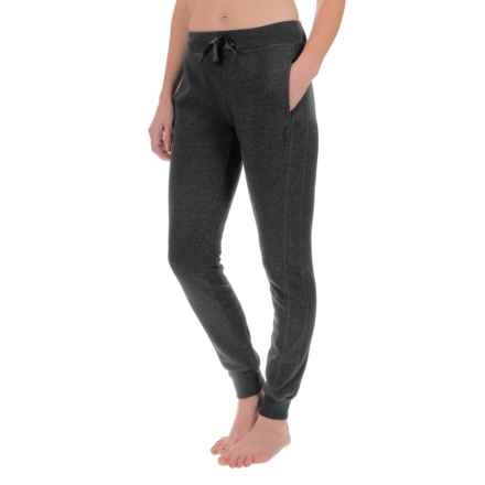 Head City Ribbed Cuff Joggers (For Women) in Black Heather - Closeouts