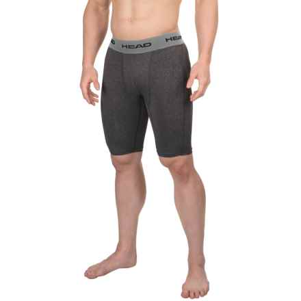 Head Compression Shorts (For Men) in Black Heather - Closeouts