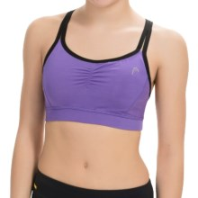 Head Cosmic Sports Bra - Medium Impact (For Women) in Passion Flower - Closeouts