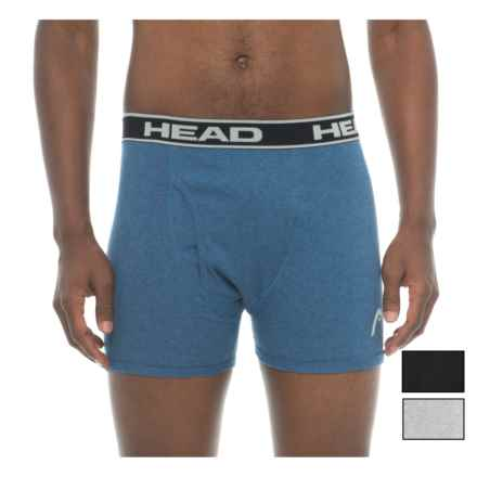 Head Cotton Boxer Briefs - 3-Pack (For Men) in Black/Blue/Grey - Closeouts