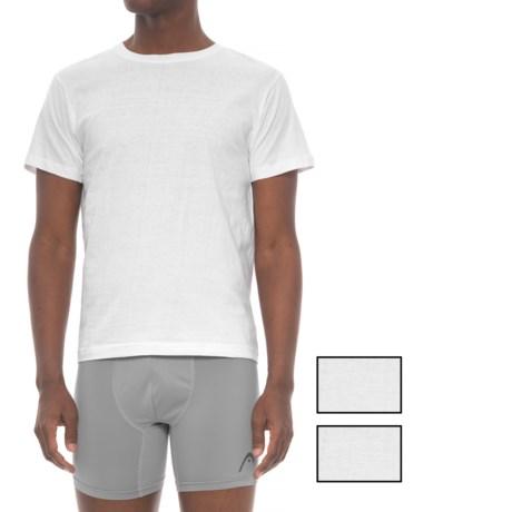 Head Cotton Crew Neck Undershirt - 3-Pack, Short Sleeve (For Men) in White