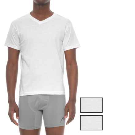 Head Cotton V-Neck Undershirt - 3-Pack, Short Sleeve (For Men) in White - Closeouts