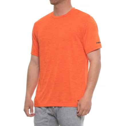 Head Court Hypertek Shirt - Crew Neck, Short Sleeve (For Men) in Red Orange Heather - Closeouts