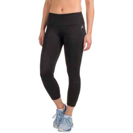 Head Crisscross Crop Leggings (For Women) in Black - Closeouts