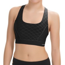 Head Diamond Jacquard Sports Bra - Medium Impact, Racerback (For Women) in Black - Closeouts