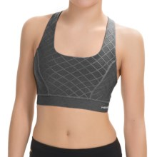 Head Diamond Jacquard Sports Bra - Medium Impact, Racerback (For Women) in Charcoal Heather - Closeouts