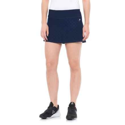 Head Diamond Jacquard Tennis Skort (For Women) in Medieval Blue - Closeouts