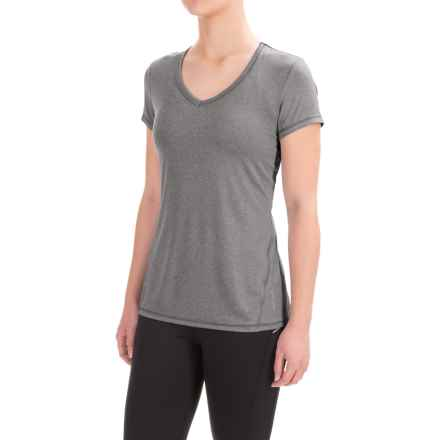 Head Emily Shirt - V-Neck, Short Sleeve (For Women) in Charcoal Heather - Closeouts
