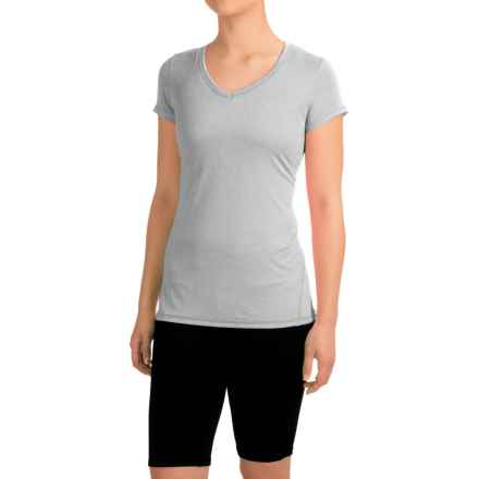 Head Emily Shirt - V-Neck, Short Sleeve (For Women) in Grey Heather - Closeouts