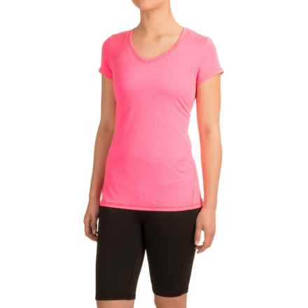 Head Emily Shirt - V-Neck, Short Sleeve (For Women) in Knockout Pink Heather - Closeouts