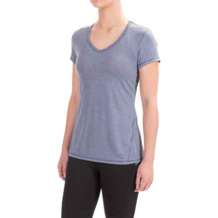 Head Emily Shirt - V-Neck, Short Sleeve (For Women) in Medieval Blue Heather - Closeouts