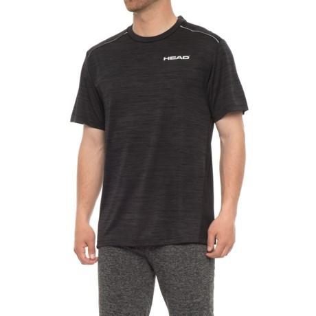 Head Epic Crew Shirt - Short Sleeve (For Men) in Black Heather