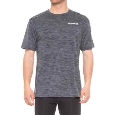 Head Epic Crew Shirt - Short Sleeve (For Men) in Ebony Heather - Closeouts