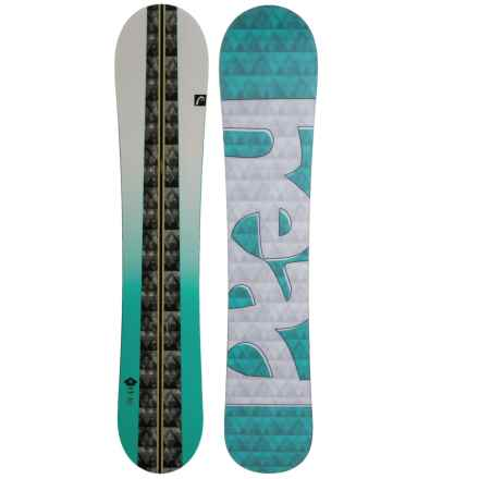 Head Faith Snowboard (For Women) in White/Teal Geo Track W/Teal/Grey Shadow Logo - Closeouts