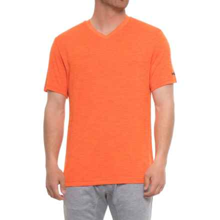 Head Flash Shirt - V-Neck, Short Sleeve (For Men) in Red Orange Heather - Closeouts