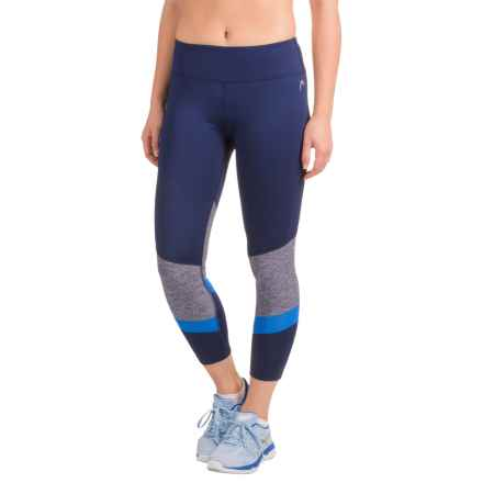 Head Fresh-Mesh Crop Leggings (For Women) in Medieval Blue - Closeouts