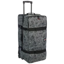 Head Galaxy Rolling Suitcase in Black/White Print - Closeouts