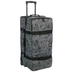 Head Galaxy Rolling Suitcase in Black/White Print