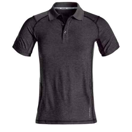 Head Gotham Polo Shirt - Slim Fit, Short Sleeve (For Big Boys) in Black Heather - Closeouts