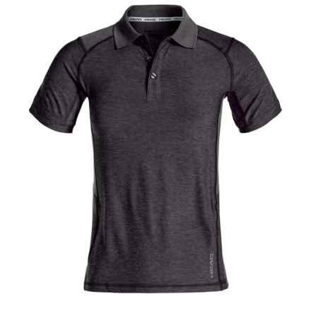 Head Gotham Polo Shirt - Slim Fit, Short Sleeve (For Big Boys) in Black Heather - Closeouts