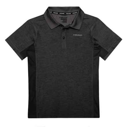 Head Gotham Space-Dyed Polo Shirt - Short Sleeve (For Big Boys) in Black Heather - Closeouts
