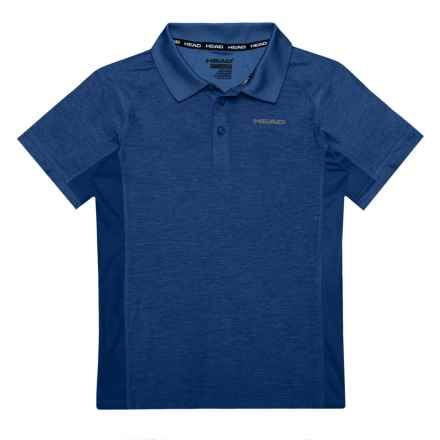 Head Gotham Space-Dyed Polo Shirt - Short Sleeve (For Big Boys) in Estate Blue Heather - Closeouts