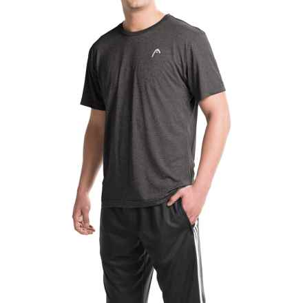 Head Heather Hypertek T-Shirt - Short Sleeve (For Men) in Black Heather - Closeouts