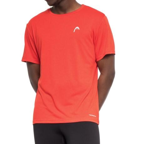 Head Heathered Hypertek T-Shirt - Short Sleeve (For Men) in Tomato Heather