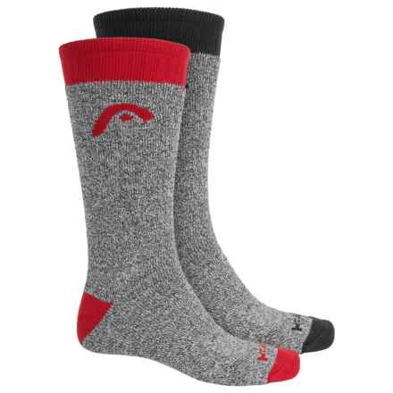 Head Heavyweight Marled Boot Socks - 2-Pack, Mid Calf (For Men) in Charcoal - Closeouts